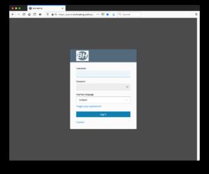 Plesk Panel login page